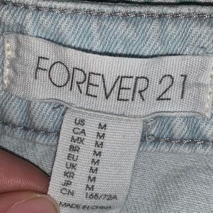 Forever 21 Light Wash Denim Skirt